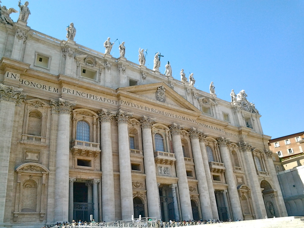 The facade of St Peter's Basilica