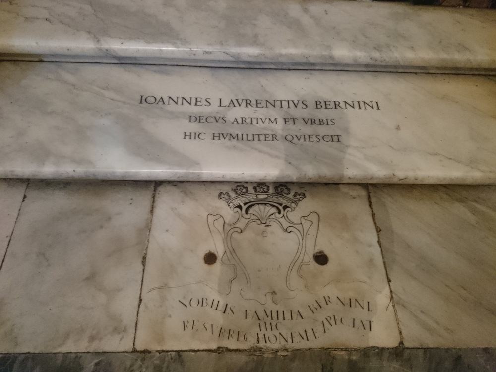 Bernini's Tomb in St Mary Major, in Rome
