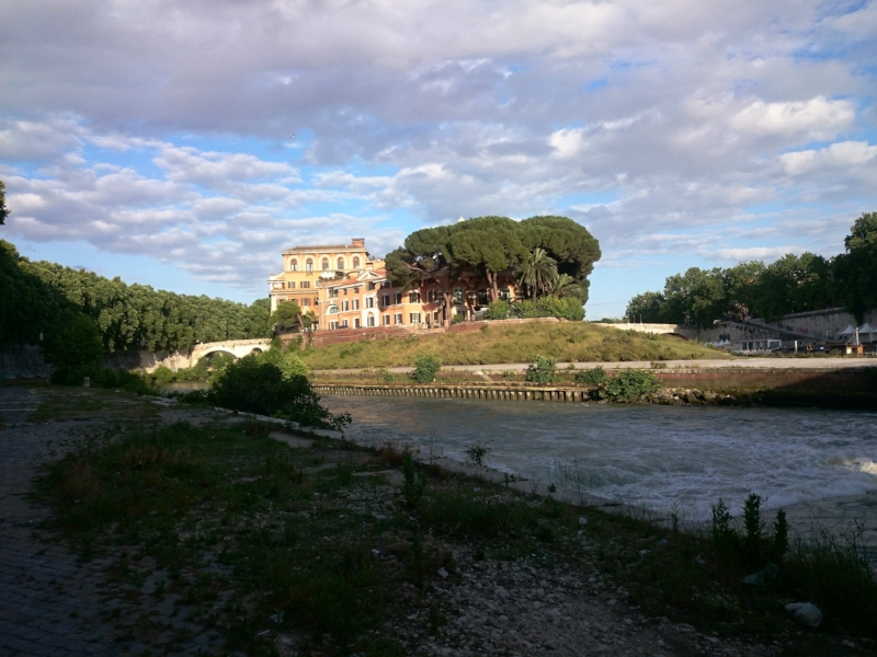 on the tiber river