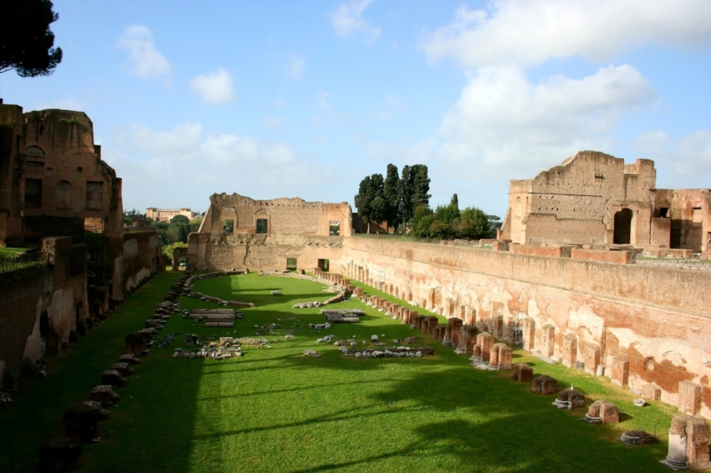 The so-called Stadium of Domitian on the Palatine