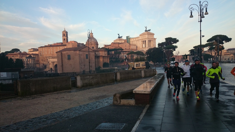 Via dei Fori Imperiali — You can see the Roman Forum on the left