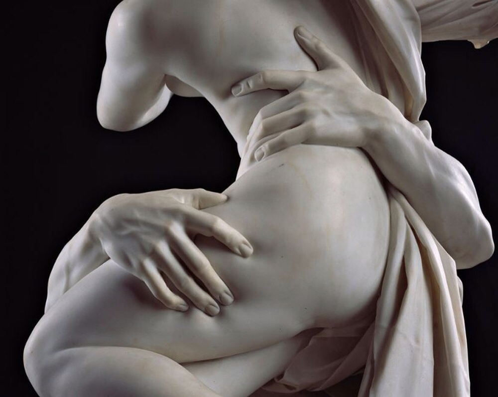 Raptus of Proserpina by Bernini at the Borghese Gallery