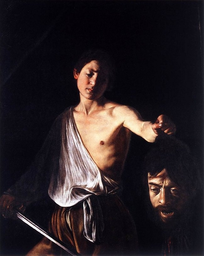 david_and_goliath_caravaggio at the borghese gallery