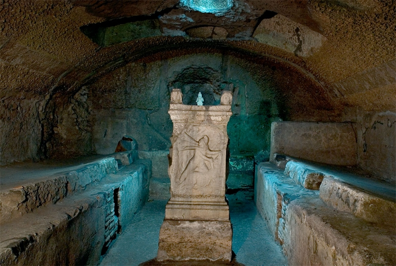 Temple of Mithras under St Clement's basilica in Rome