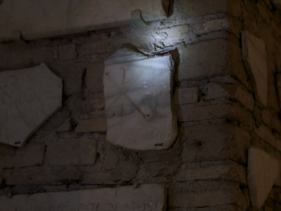 Symbol of Christ in the Catacombs of Rome