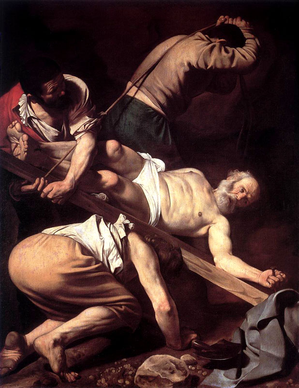 Caravaggio Crucifixion of St Peter