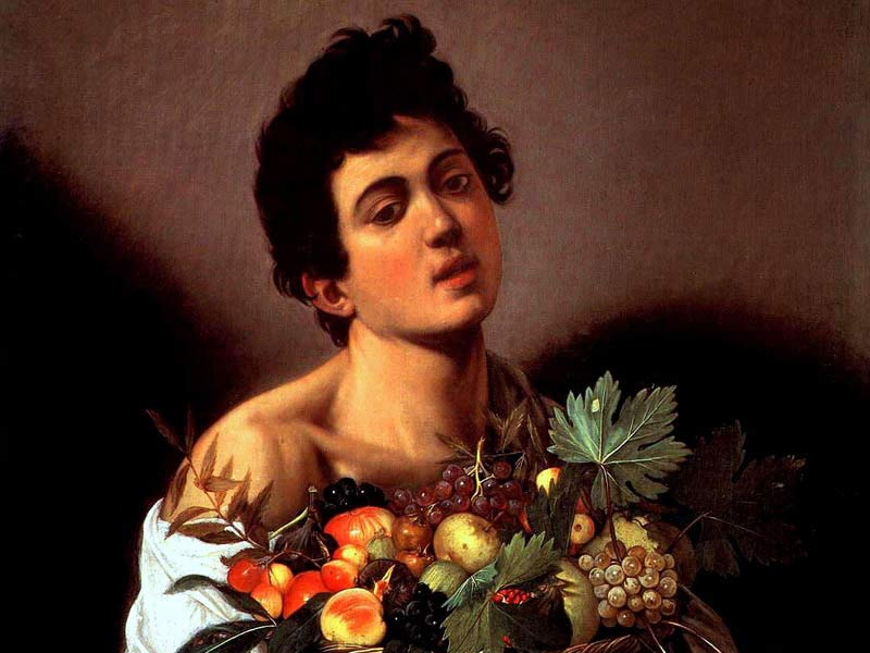 Boy with a Basket of Fruit