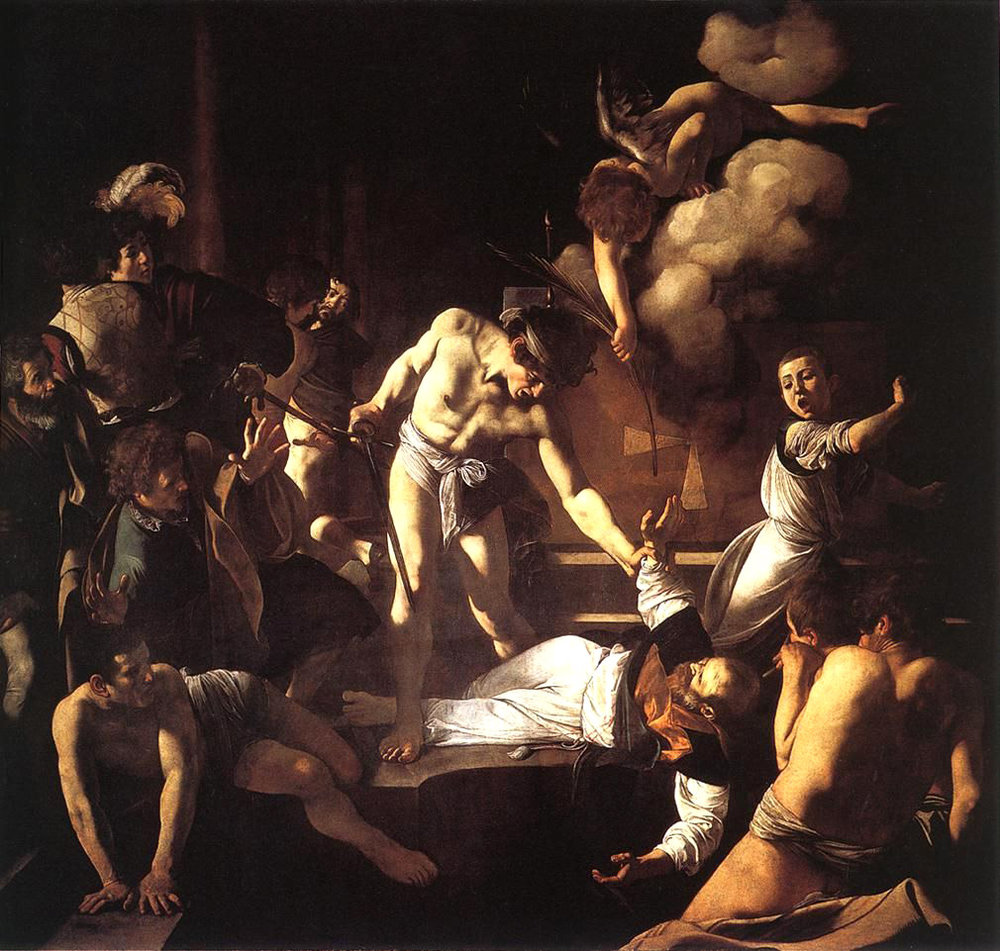 St Matthew's martyrdom Caravaggio St Louis of the French
