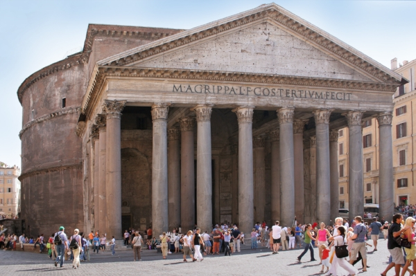 Pantheon in Rome city center