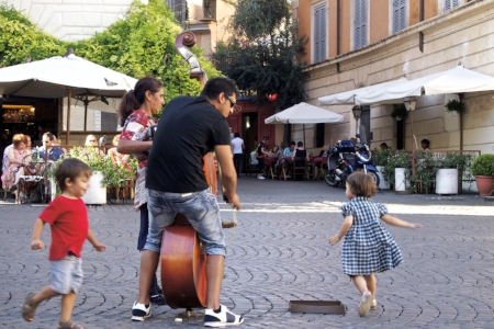 Trastevere in Rome is a very lively neighborhood