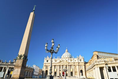 St Peter's Basilica and Square with a view of the Obelisk