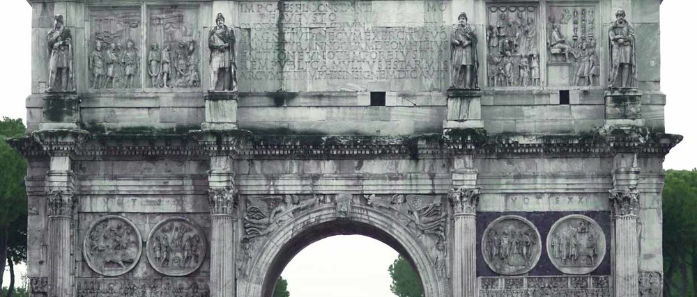 Arch of Constantine in Rome by the colosseum
