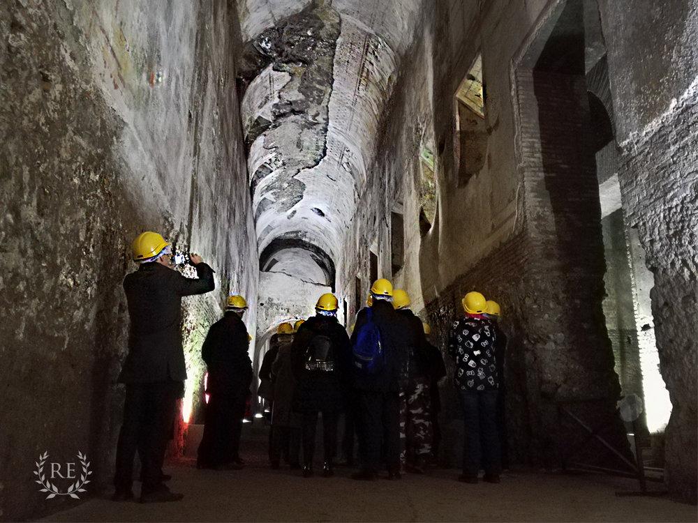 Visiting the Domus Aurea underground