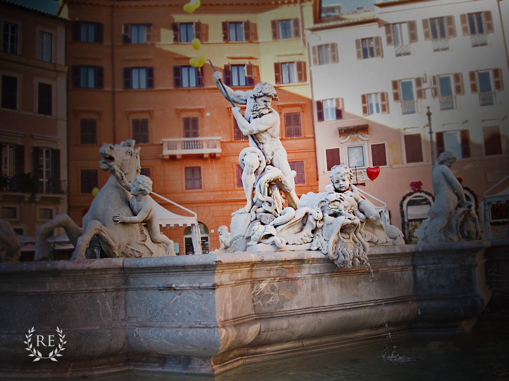 Tour Rome, Piazza Navona, Neptune's statue