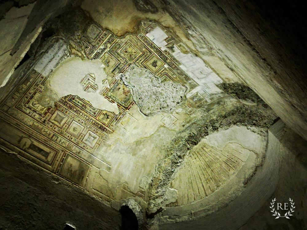 Ceiling frescoes in Domus Aurea