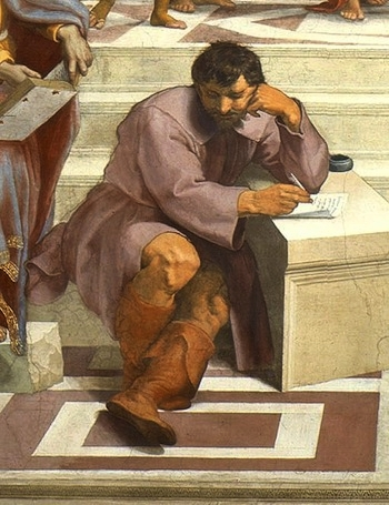 Michelangelo as portrayed by Raphael, Vatican Museums