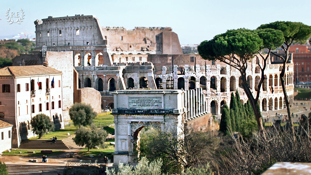 The Colosseum as seen from the Palatine Hill