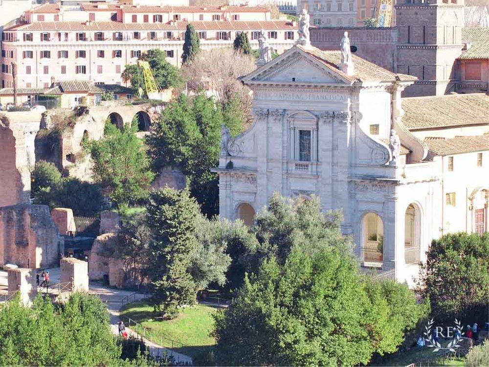 francesca-romana-facade-roman-forum