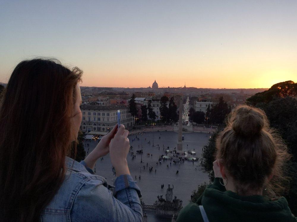 Piazza del Popolo from the Pincio