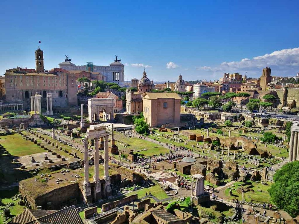 Roman forum with the view of Capitoline Hill