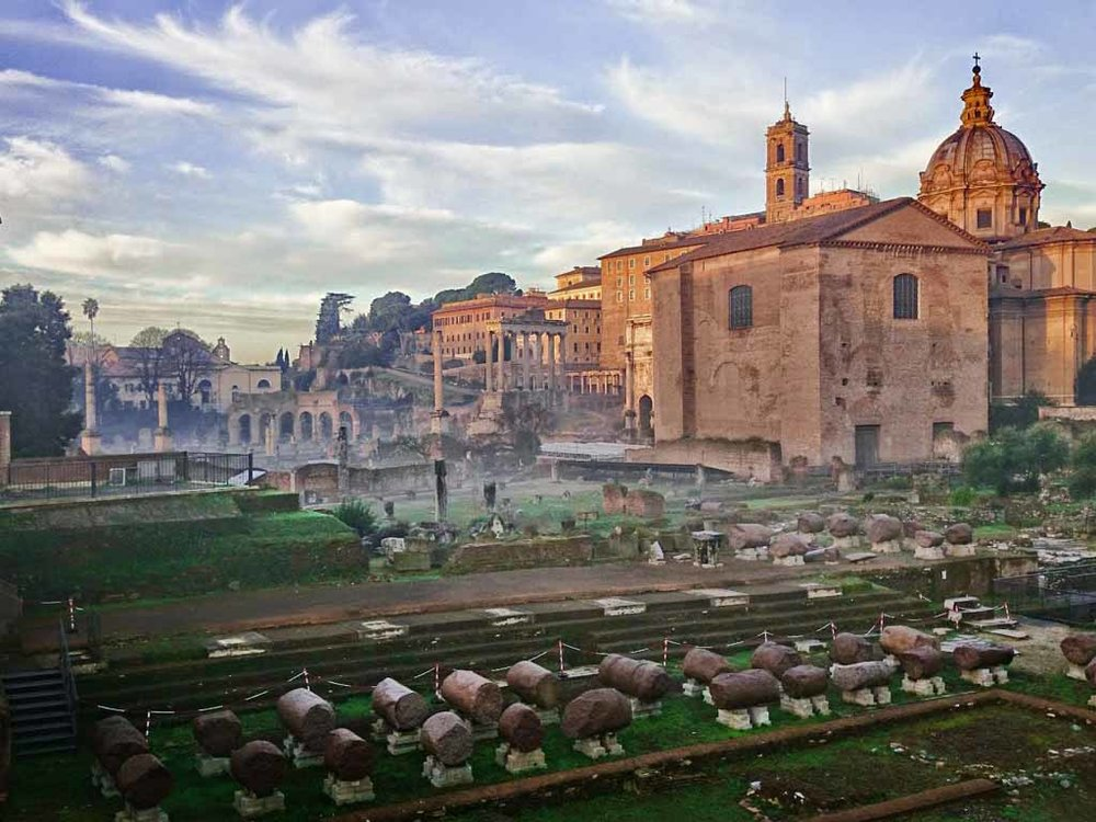 Early Morning Roman Forum view