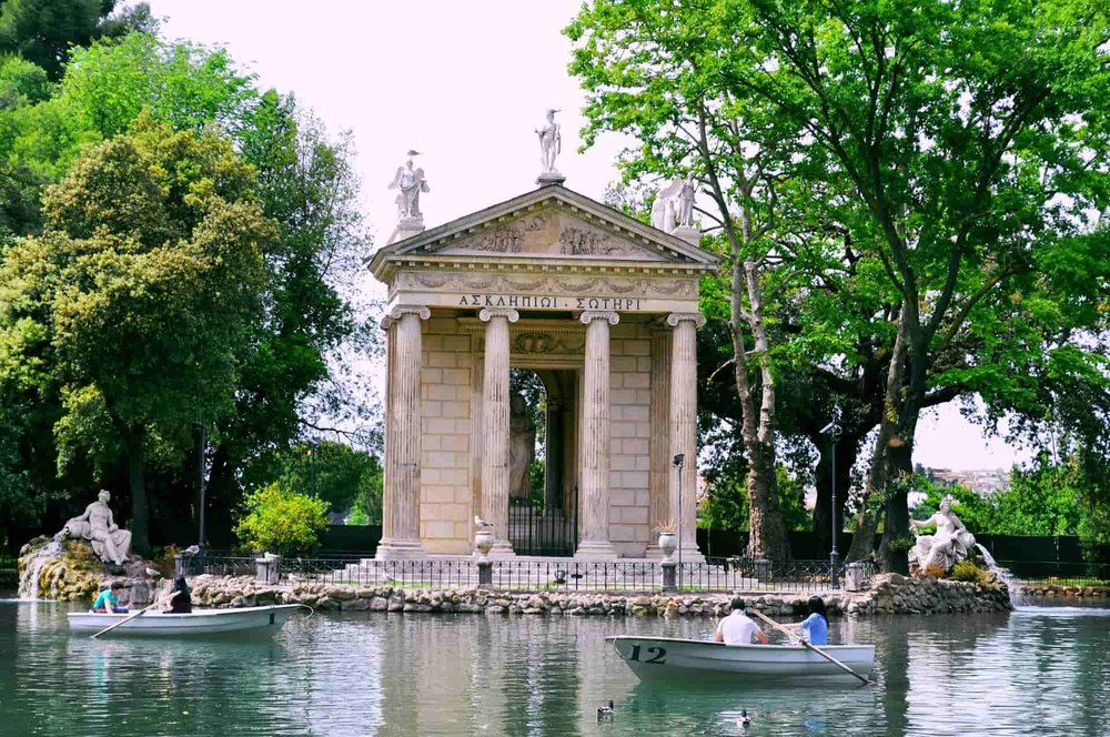 The park of Villa Borghese in Rome