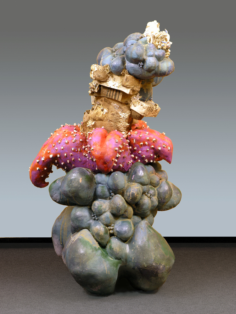 """In Unchartered Waters, 45"""" x 24"""" x 22"""", ceramic, mixed media"""