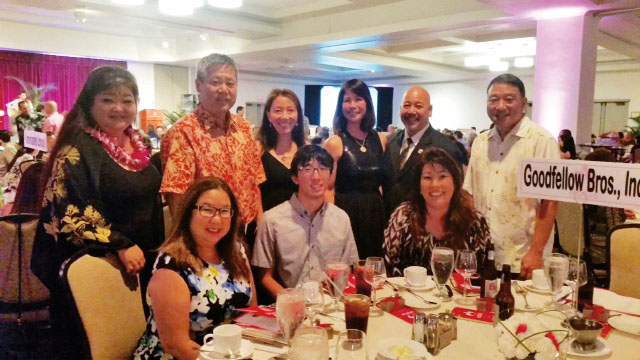 Front L to R:  Avis Takamatsu, Nick Takamatsu and Charlene Moriwaki  Back L to R: JoAnn Inamasu, Hawaii State Rep. Scott Saiki, Patsy Saiki, Melanie Martin, Honolulu City Council Chairman Ernie Martin and Bob Takamatsu