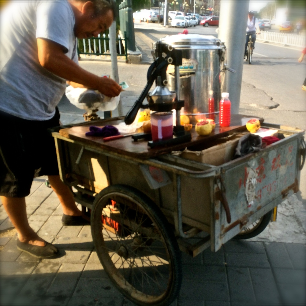fresh juice, anyone?   ummm....I'll pass....xièxiè (thanks)