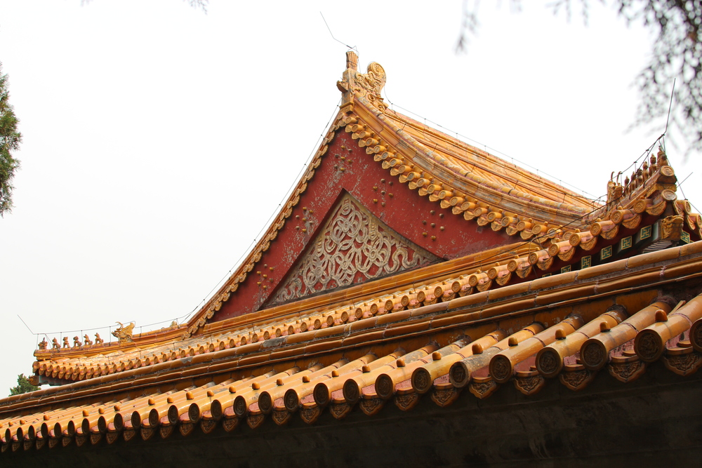 roof line of the Temple of the Earth