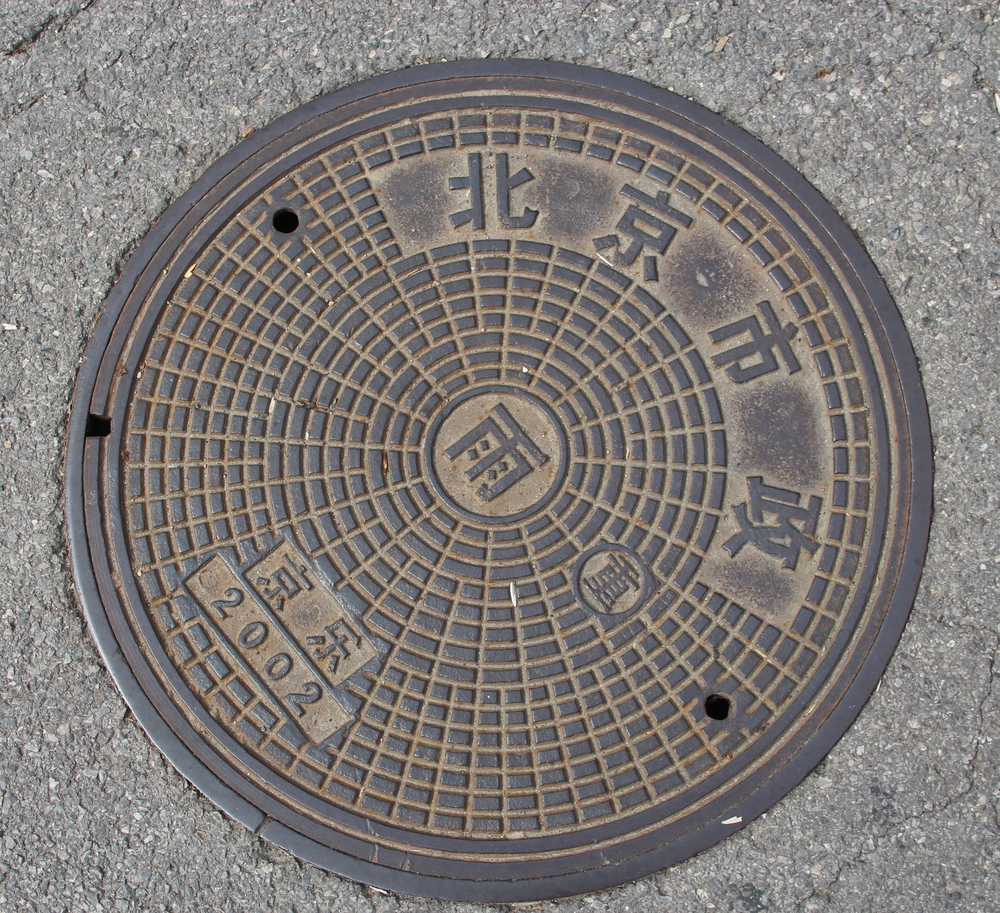 a man hole cover....well, I thought it was cool.