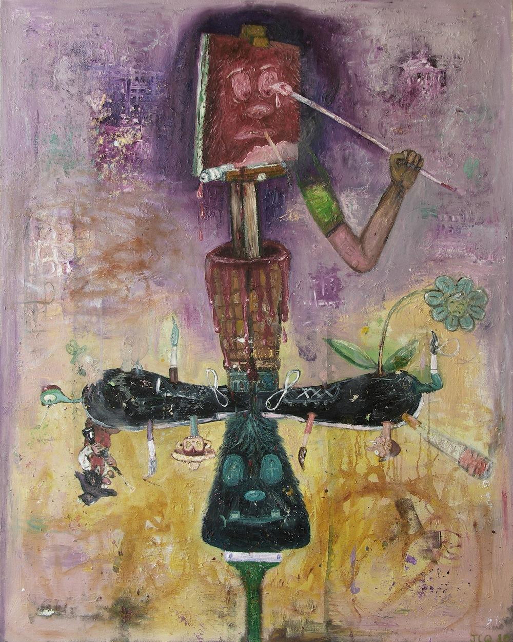 Untitled (self potrait as a failed painting) oil on canvas, 2010.jpg