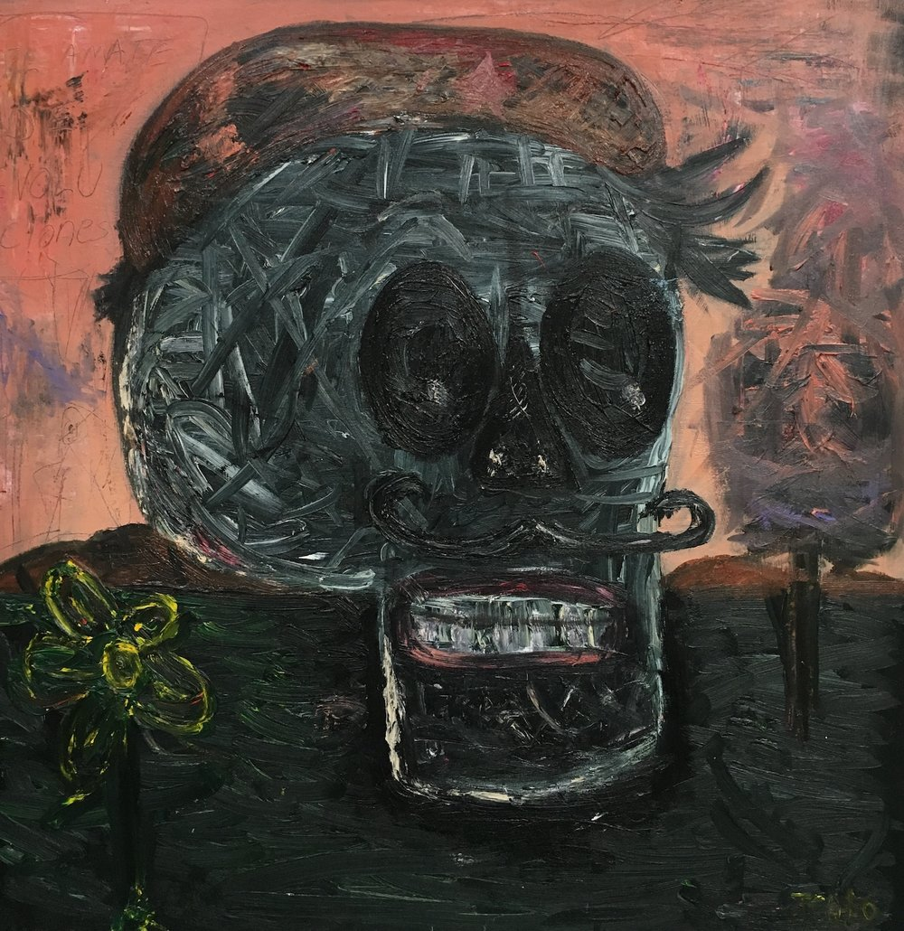 Untitled (black skull)