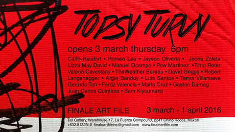 Topsy Turvy  group show at FINALE ART FILE