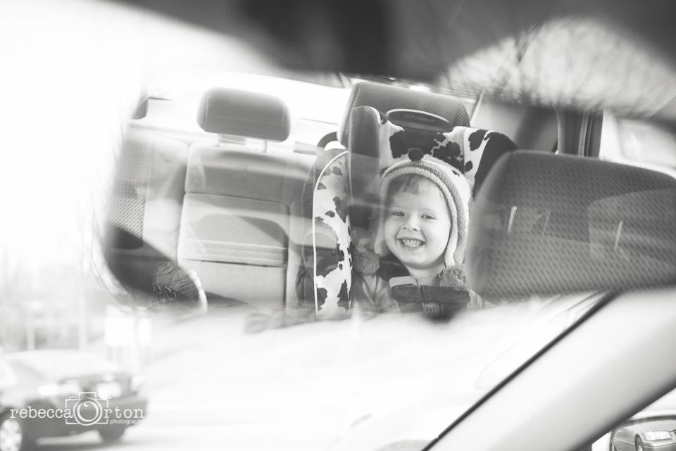 9|365 Rear view mirror cuteness