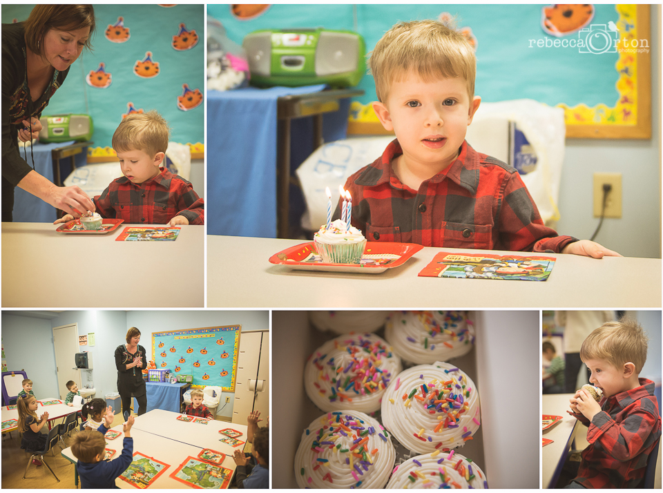 "22|365  Jack's preschool celebrates summer birthdays as half birthdays so Jack got to have a 1/2 birthday party on this day:) He was so excited and cute about getting to have a ""party"" and cupcakes. My friend Collette at  Shaddy Cakes  made the cupcakes with a cake flavor of cookies n cream. So yummy, everyone wanted more! And almost a month later, Jack is still talking about this day."