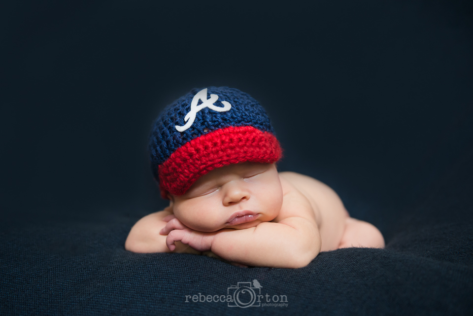 Atlanta Braves Newborn Baby Photographer