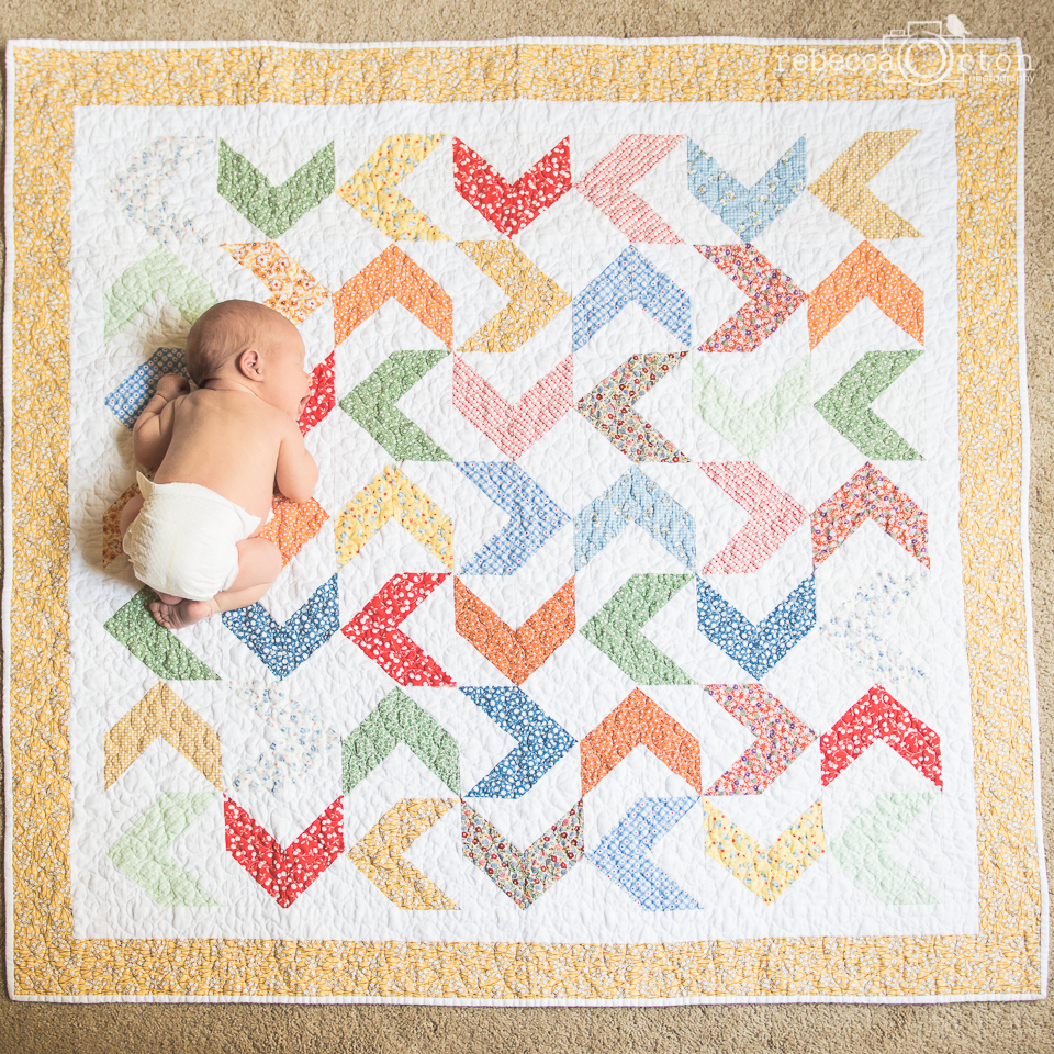 2.6.2015 Ryan's baby quilt from Gran and Poppy