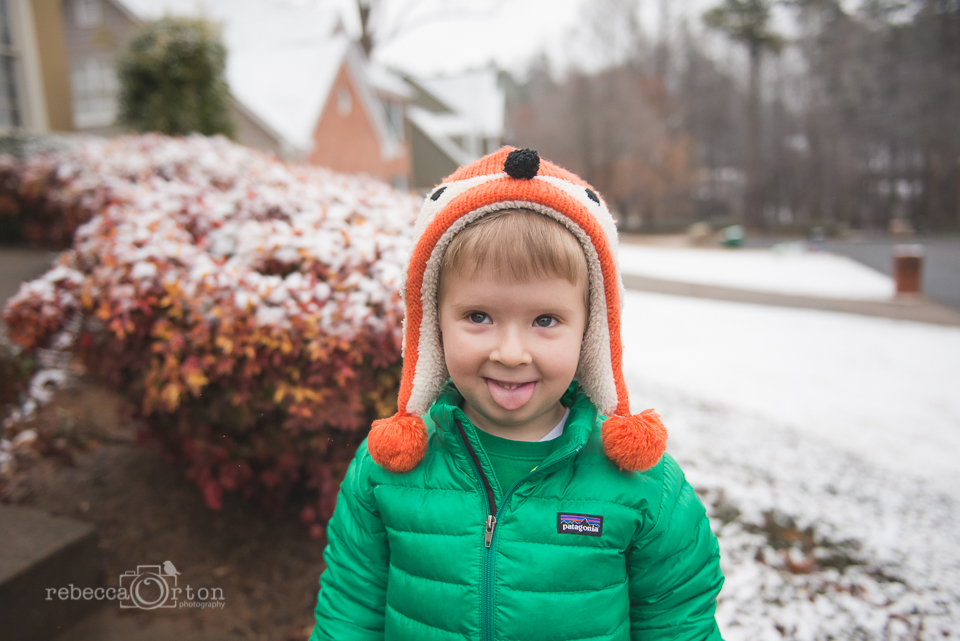 2.24.2015 Goofy face before school on an almost snow day.
