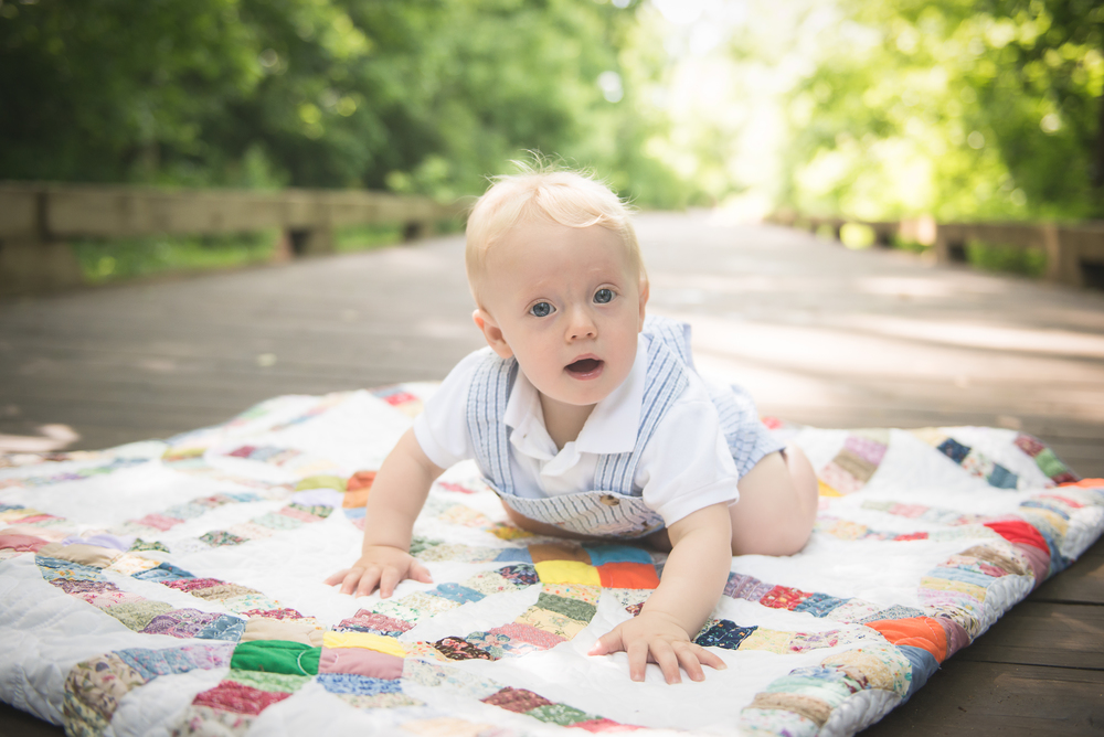9 month old baby boy photo
