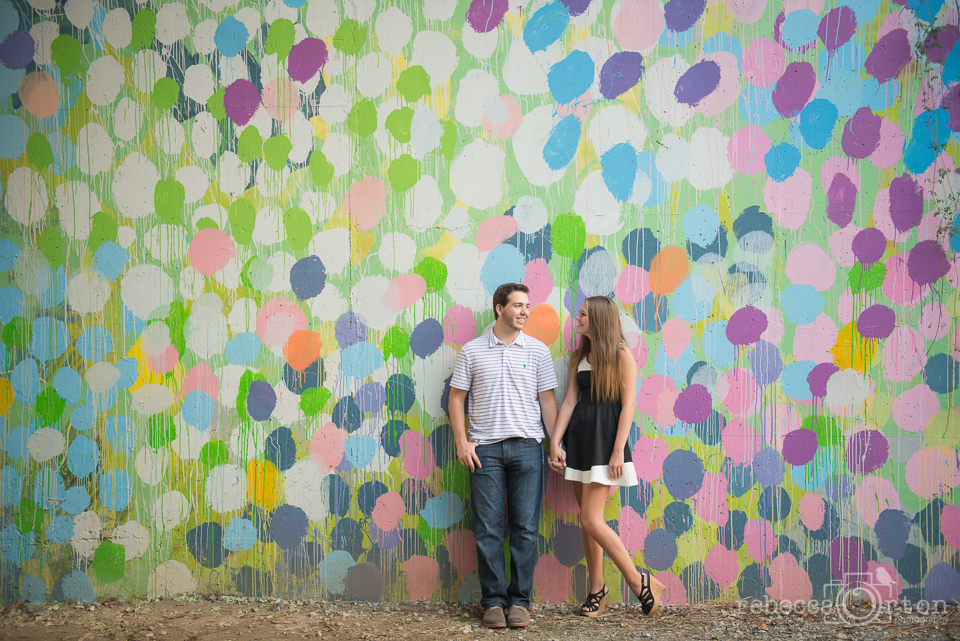 couple on atlanta beltline rainbow graffiti wall