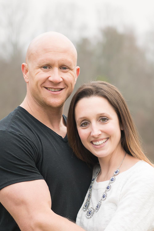 husband and wife christmas photo