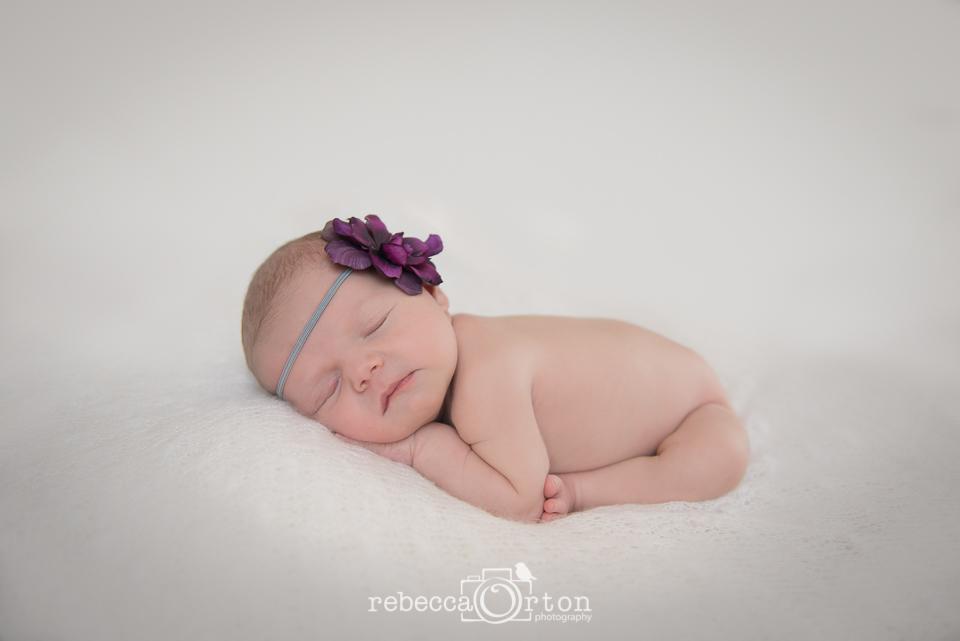 purple flower baby girl