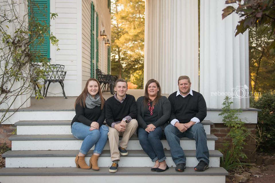 family photo at historic home roswell