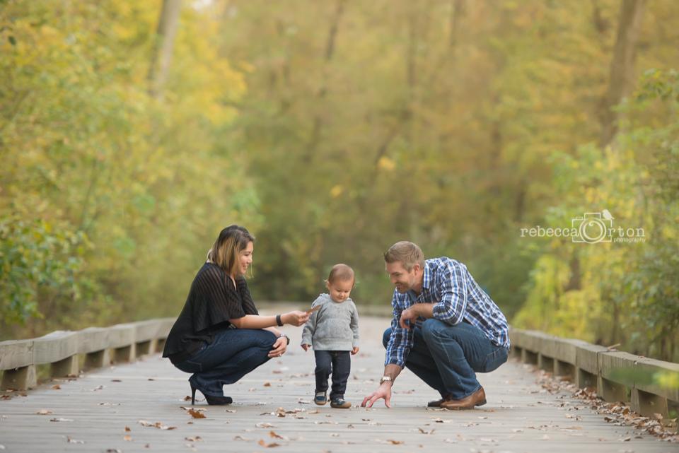 family of 3 big creek greenway