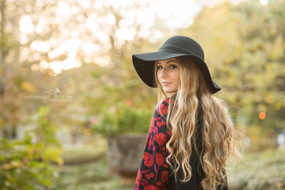 blonde senior girl