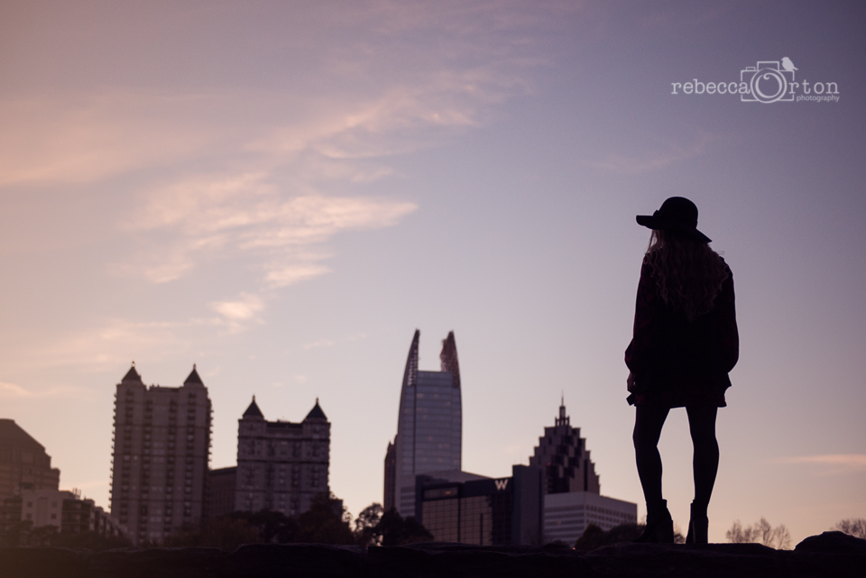 atlanta skyline silhouette senior girl