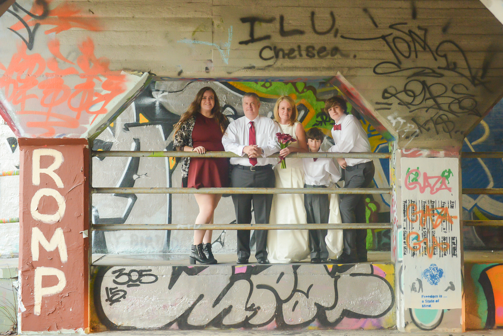 graffiti wedding family