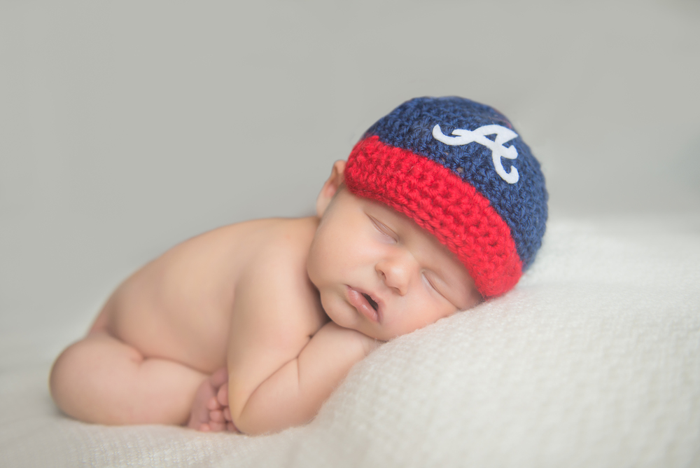 braves hat newborn baby boy