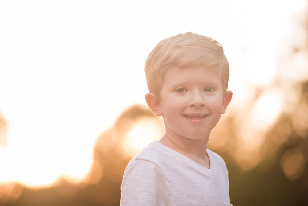 5 year old at sunset